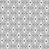 Nowożytny bezszwowy wzór diamenty, trójboki i zygzag, wykłada w popielatej skala ilustracji