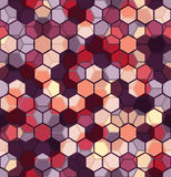 Nowożytny Bezszwowy wzór sześciokąta multicolor abstrakcjonistyczny geometryczny tło Obraz Royalty Free