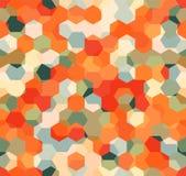 Nowożytny Bezszwowy wzór wieloboka multicolor abstrakcjonistyczny geometryczny tło Obrazy Royalty Free