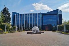 Nowożytny biblioteka uniwersytecka budynek w Łódzkim Zdjęcie Royalty Free