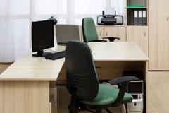 nowożytny biurka biuro fotografia royalty free