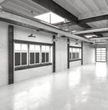 Nowożytny biurowy atrium lub sala wnętrze Zdjęcia Royalty Free