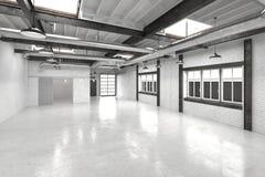 Nowożytny biurowy atrium lub sala wnętrze Zdjęcie Royalty Free