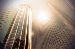Nowożytny biznesowy buduje szkło drapacze chmur, Biznesowy pojęcie Zdjęcia Royalty Free