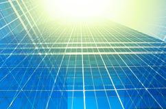 Nowożytny biznesowy buduje szkło drapacze chmur, Biznesowy pojęcie Obrazy Royalty Free