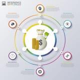 Nowożytny biznesowy infographics okrąg również zwrócić corel ilustracji wektora royalty ilustracja