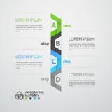 Nowożytny biznesowy kroka origami stylu opcj sztandar Obraz Stock