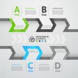 Nowożytny biznesowy kroka origami stylu opcj sztandar Zdjęcie Royalty Free