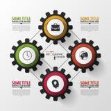 nowożytny biznesowy pojęcie Infographic projekta szablon wektor Zdjęcia Stock
