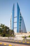 Nowożytny budynek Bahrajn world trade center, Manama Zdjęcie Stock