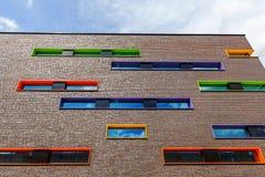 Nowożytny budynek mieszkalny w Eindhoven, holandie Z wokoło 225.000 mieszkanami swój wielki zarząd miasta Netherla Obrazy Royalty Free