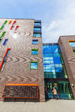 Nowożytny budynek mieszkalny w Eindhoven, holandie Z wokoło 225.000 mieszkanami swój wielki zarząd miasta Netherla Obrazy Stock