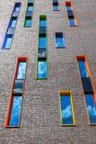 Nowożytny budynek mieszkalny w Eindhoven, holandie Z wokoło 225.000 mieszkanami swój wielki zarząd miasta Netherla Zdjęcie Stock