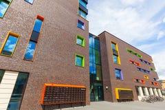 Nowożytny budynek mieszkalny w Eindhoven, holandie Z wokoło 225.000 mieszkanami swój wielki zarząd miasta Netherla Zdjęcia Stock
