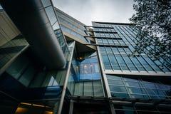 Nowożytny budynek przy Massachusetts Institute Of Technology, wewnątrz Zdjęcie Stock