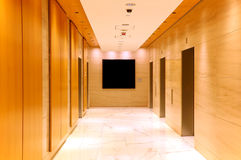 Nowożytny budynek windy lobby fotografia stock