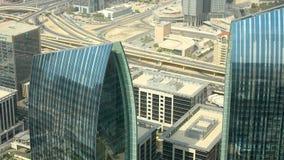 Nowożytny budynków 4k czasu upływ od Dubai centrum handlowego terenu zdjęcie wideo