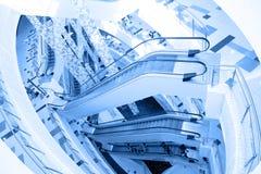 nowożytny budynku eskalator fotografia royalty free