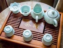 Nowożytny Chiński herbata set Obrazy Royalty Free
