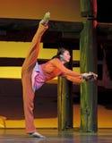 nowożytny chiński tancerz Zdjęcie Royalty Free