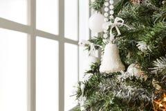 Nowożytny choinki dekoraci tło Fotografia Royalty Free