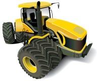 nowożytny ciągnikowy kolor żółty Zdjęcia Royalty Free