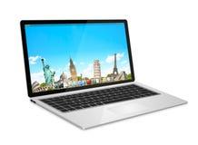 Nowożytny cyfrowy laptop Zdjęcie Stock