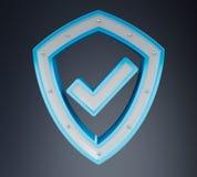 Nowożytny cyfrowych dane osłony antivirus 3D rendering Obraz Royalty Free