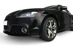 Nowożytny Czarny samochód - reflektoru zbliżenie Zdjęcia Stock