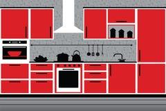 Nowożytny kuchenny wnętrze Zdjęcia Stock