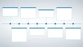 Nowożytny czysty biznesu stylu linii czasu szablon wektor może używać dla obieg układu, diagram, liczba podchodził opcje, sieci d ilustracja wektor