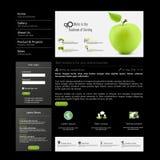 Nowożytny Czysty strona internetowa szablon Obraz Royalty Free