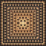 Nowożytny 3d wektoru kwadrata geometryczny grecki wzór panel mandala Płytka Ornamentacyjny textured abstrakcjonistyczny tło Powtó ilustracja wektor