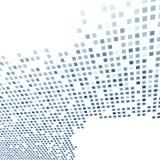 Nowożytny dachówkowy tło szablon w zmroku - błękit Zdjęcia Royalty Free