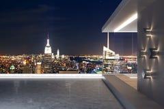 Nowożytny dach z NY widokiem fotografia stock