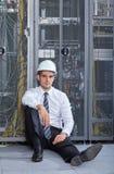 Nowożytny datacenter serweru pokój Zdjęcia Royalty Free