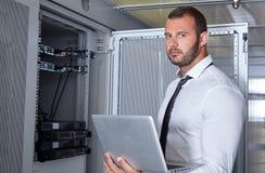 Nowożytny datacenter serweru pokój Zdjęcie Royalty Free