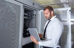 Nowożytny datacenter serweru pokój Obrazy Royalty Free