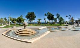 Nowożytny deptak - Limassol, Cypr zdjęcie stock