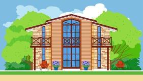 Nowożytny dom miejski z dużymi okno Fotografia Stock