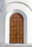 Nowożytny Drewniany drzwi Zdjęcie Royalty Free