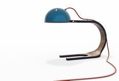 Nowożytny drewniany elektrycznej lampy 3d model ilustracja wektor
