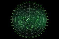 Nowożytny ekran radaru zdjęcia royalty free