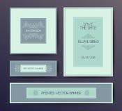 Nowożytny elegancki pocztówkowy szablon Fotografia Royalty Free