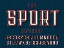 Nowożytny fachowy wektoru 3d abecadła sport Obyczajowy typeface zdjęcie stock