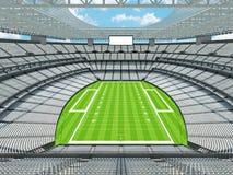 Nowożytny futbolu amerykańskiego stadium z białymi siedzeniami Fotografia Stock
