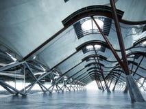 Nowożytny futurystyczny pusty abstrakcjonistyczny wnętrze obrazy stock