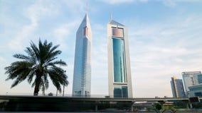 Nowożytny góruje 4k czasu upływ od Dubai miasta zdjęcie wideo