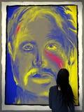 nowożytny galeria sztuki portret ilustracja wektor