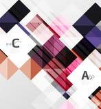Nowożytny geometrical kwadratowy sztandar, minimalistic abstrakcjonistyczny tło ilustracja wektor